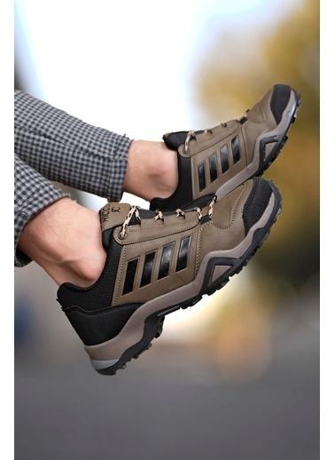Riccon Siyah Füme Erkek Trekking Ayakkabı 0012189 Vizon